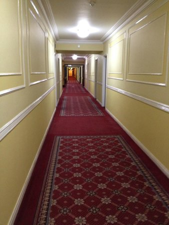 "Riu Plaza The Gresham Dublin: Cool hallway reminded us of the movie ""The Shining"" REDRUM"