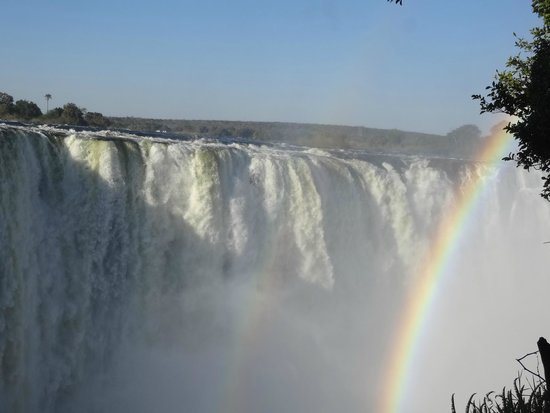 Mosi-oa-Tunya / Victoria Falls National Park: Beautiful rainbow in the mist.