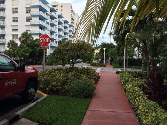 Pestana Miami South Beach: Rua do hotel.