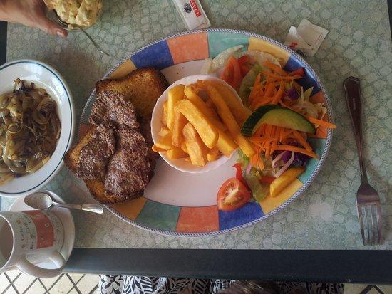 The Open Steak Sandwich Picture Of Olive Garden Deli Los Cristianos Tripadvisor