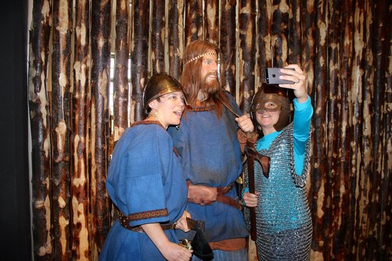 Saga Museum: Dress up at the end of the tour.