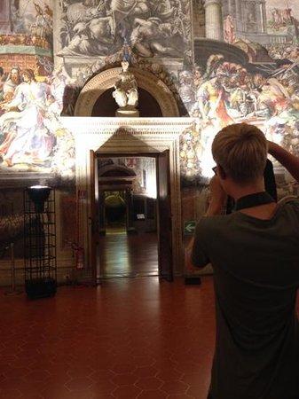 Museo di Palazzo Vecchio : 's Avonds is het paleis bijna leeg - je weet niet wat je meemaakt