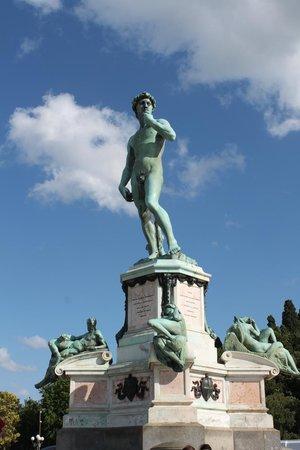 Esplanade Michel-Ange (Piazzale Michelangelo) : view