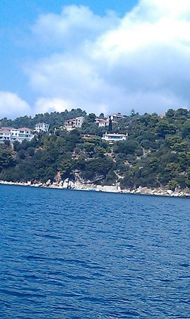 Eleni's Village: view from the quad north side of Skiathos