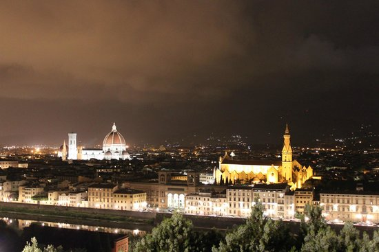 Esplanade Michel-Ange (Piazzale Michelangelo) : view at night