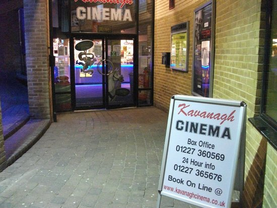 Kavanagh Cinema Herne Bay: Frontage at night