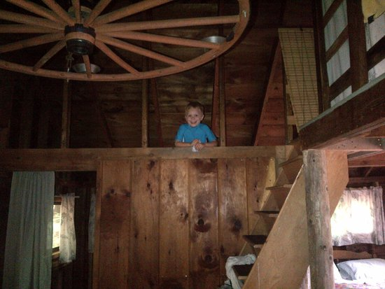 Chocorua Camping Village: Kamaki Cabin - View From Top Bunk