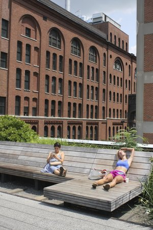 Sunbathing on the High Line