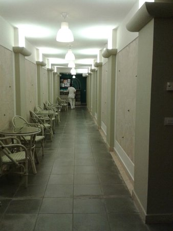 Albergo Le Terme: l'ingresso agli spogliatoi