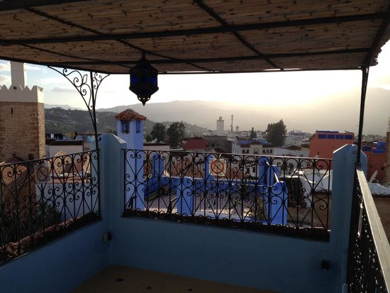 Riad Baraka: view from the rooftop patio