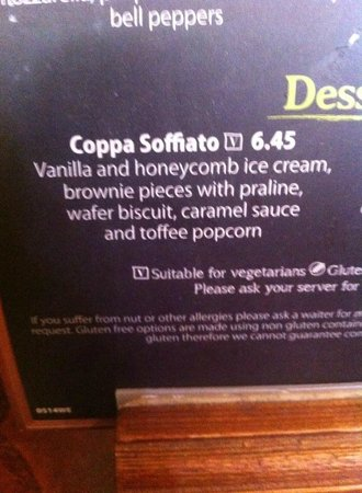 Bella Italia South Kensington : Coppa Soffiato