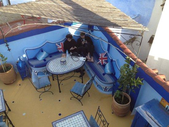 Riad Baraka: the rooftop patio