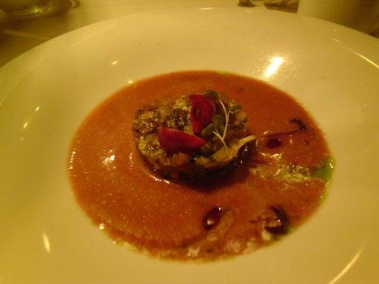 Restaurante El 24 de la Paloma: cherry gaspacho