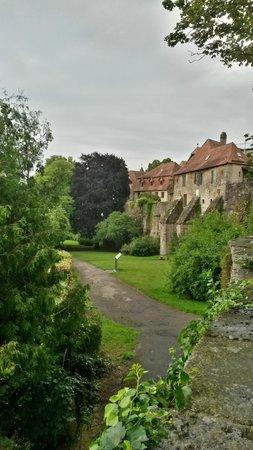 Burggarten: View from the garden