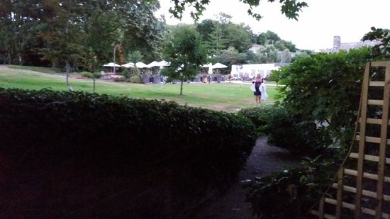 Longueville Manor: view from patio.