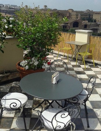 Hotel Nord Nuova Roma: rooftop cafe