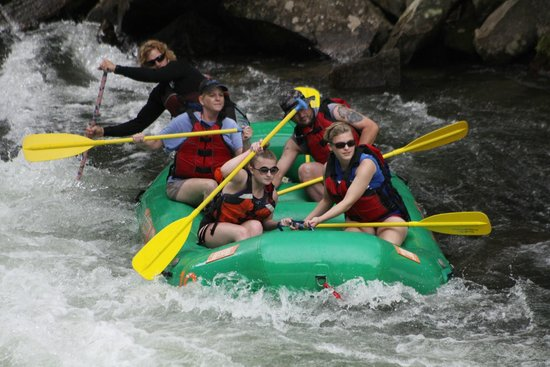Rolling Thunder River Company: Approaching the Falls on the Nantahala with Rolling Thunder