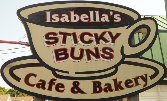 Isabella's Cafe And Bakery : Our sign