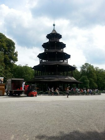 Biergarten am Chinesischen Turm: La pagoda