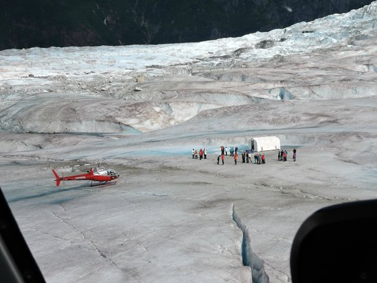 Getting ready to land on the Mendelhall Glacier - Picture of Temsco