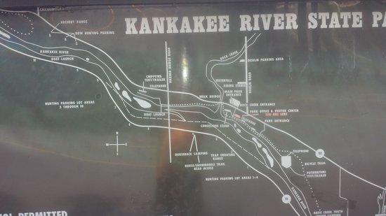 Kankakee River State Park: Map