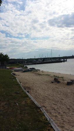 Erin Motel: This beach runs into the public beach