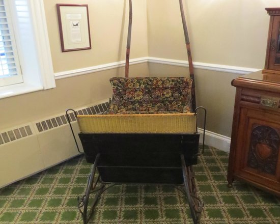 The Gananoque Inn and Spa: Child's cutter in lobby, photo by Mike Keenan
