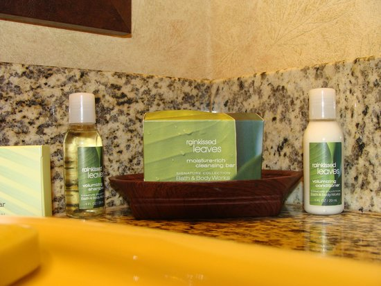 Olympic Lodge: Pleasant bathroom items to use -  smelled nice.