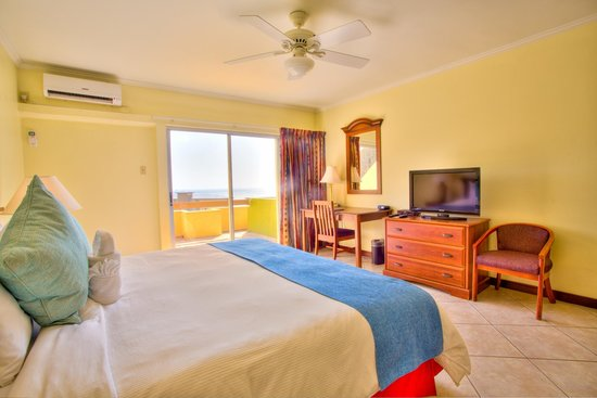 Cara Suites - Pointe a Pierre: Hotel Room with balcony and a view of the ocean