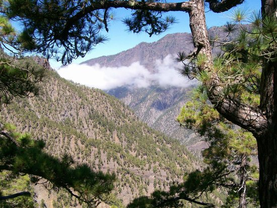 Caldera de Taburiente National Park: spectacular the view of La caldera de Taburiente