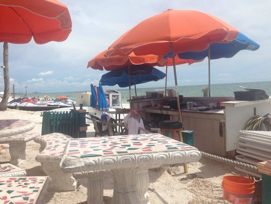 Doc's Beach House Restaurant : Beautiful view of the beach as you dine!