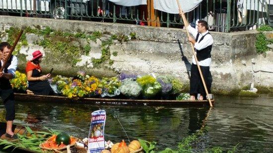 Marché de L'Isle-sur-la-Sorgue : French gondola
