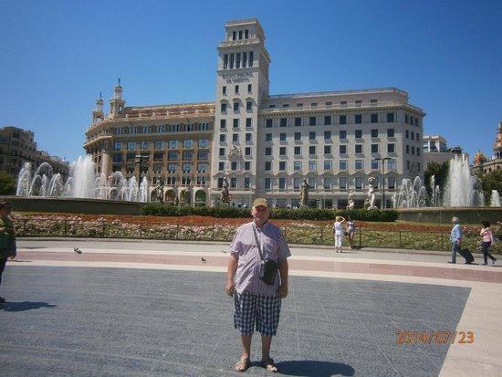 Plaza de Cataluna: На площади