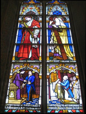 Basilica of the Holy Blood: Example of the plentiful stained glass