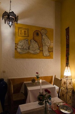 Riad Al Zahia : Picture at the restaurant wall