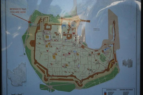 Map Of The Medieval City Eikona Toy Mesaiwnikh Polh Rodos