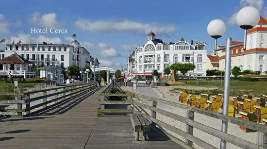 Ceres Hotel: Ideale Lage an der Promenade, Seebrücke und Strand