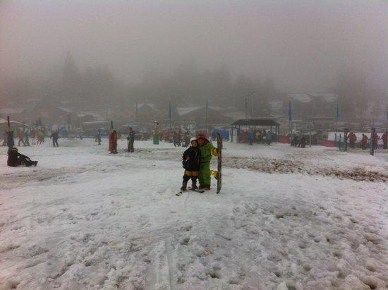 La Base Escuela de Ski & Snowboard: Aula no cerro catedral