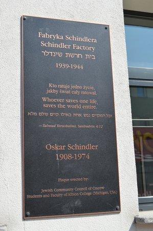 Usine d'Oskar Schindler : MEMORIAL TO OSKAR  SCHINDLER.