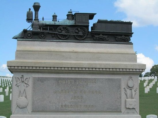 Chattanooga National Cemetery: some were executed, some escaped, the great locomotive chase