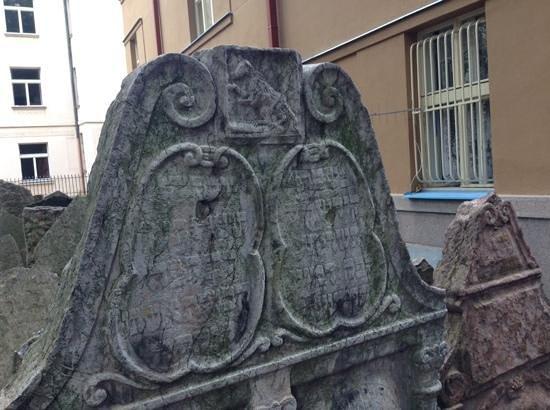 Old Jewish Cemetery: ornate grave stones
