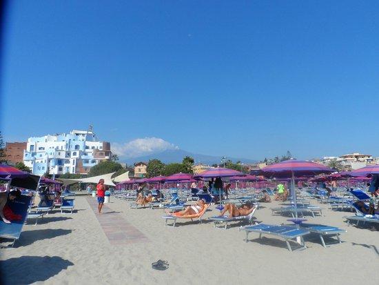 Caesar Palace Hotel Taormina: plage reservee hotel
