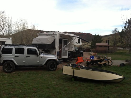 Horsetooth Mountain Open Space: Basecamp at the reservoir.