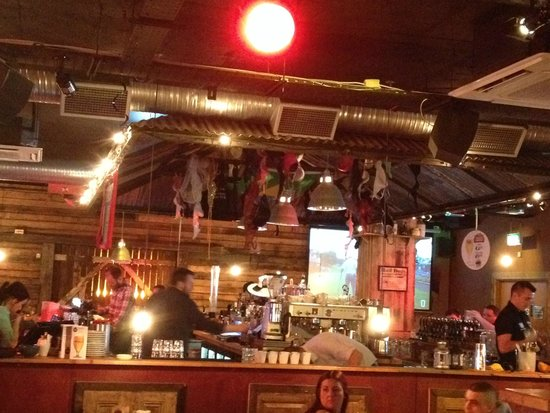 Hogs and Heifers: Interior of restaurant