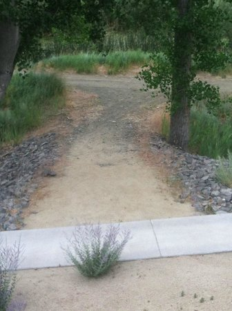 1862 David Walley's Hot Springs Resort and Spa: Walking trail behind resort