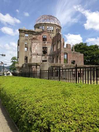Hiroshima Peace Memorial Park: A-Bomb Dome (one of the few buildings that survived)