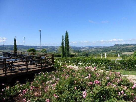 Saturnia Tuscany Hotel: vue sur la vallée