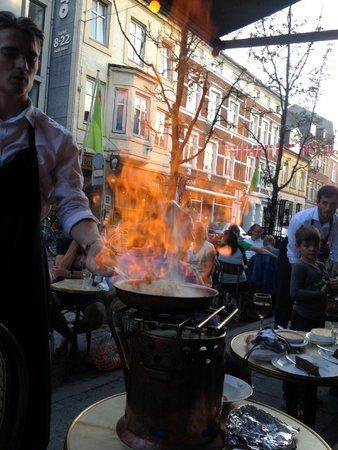 Klassisk Bistro & Vinbar : Flambering