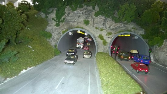 Miniatur Wunderland: close up photo of road