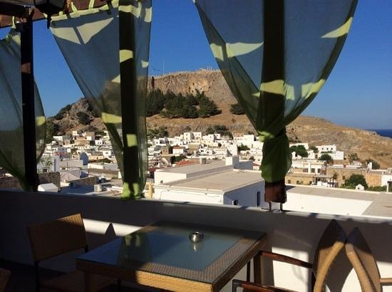 Xenones Lindos: Rooftop terrace